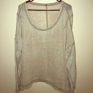 Free People oversized long sleeve
